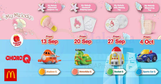Featured image for McDonald's NEW My Melody & ChoroQ Happy Meal Toys till 10 Oct 2018