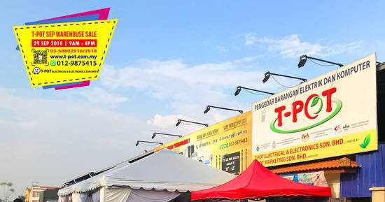 Featured image for T-Pot warehouse sale at Shah Alam on 29 Sep 2018