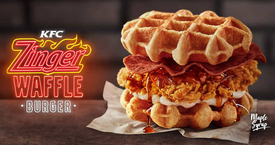 Featured image for KFC Malaysia launches new Zinger Waffle Burger from 2 Oct 2018