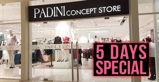 Featured image for Padini: 5-days special storewide sale at all outlets from 2 - 6 Nov 2018