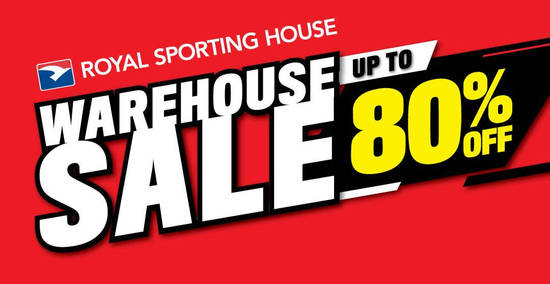 Featured image for Royal Sporting House up to 80% off warehouse sale from 2 - 6 Nov 2018
