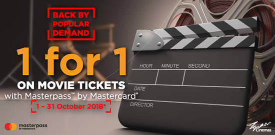 Featured image for TGV Cinemas' Buy-1-FREE-1 movie ticket promotion is back! Valid till 31 Oct 2018