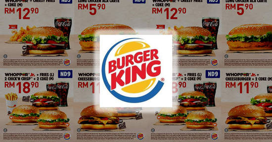 Featured image for Burger King releases new coupons valid till 31 Dec 2018