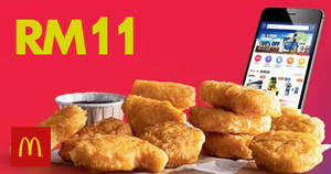 Featured image for Here's how to get 11pcs McDonald's Chicken McNuggets for only RM11! Valid till 11 Nov 2018