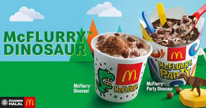Featured image for McDonald's Dinosaur Desserts are back from 26 November 2018