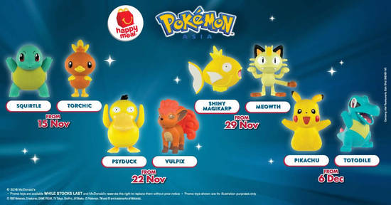 Featured image for McDonald's Pokemon Happy Meal toys are now available! New toys every week till 12 December 2018