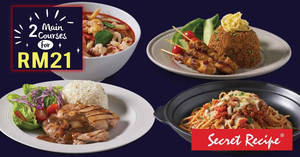 Featured image for Secret Recipe: Only RM21 for two timeless classics dishes on 21st November 2018