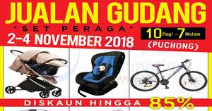 Featured image for Wah Ha Children up to 85% off warehouse sale at Puchong from 2 – 4 Nov 2018