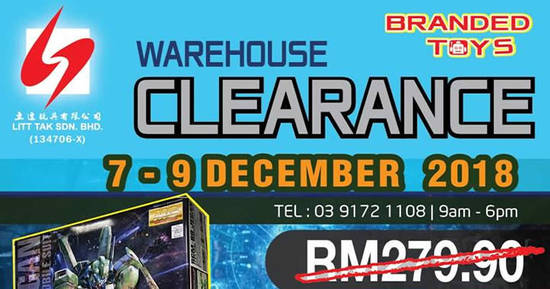 Featured image for Litt Tak branded toys warehouse clearance at Cheras, Kuala Lumpur from 7 - 9 Dec 2018