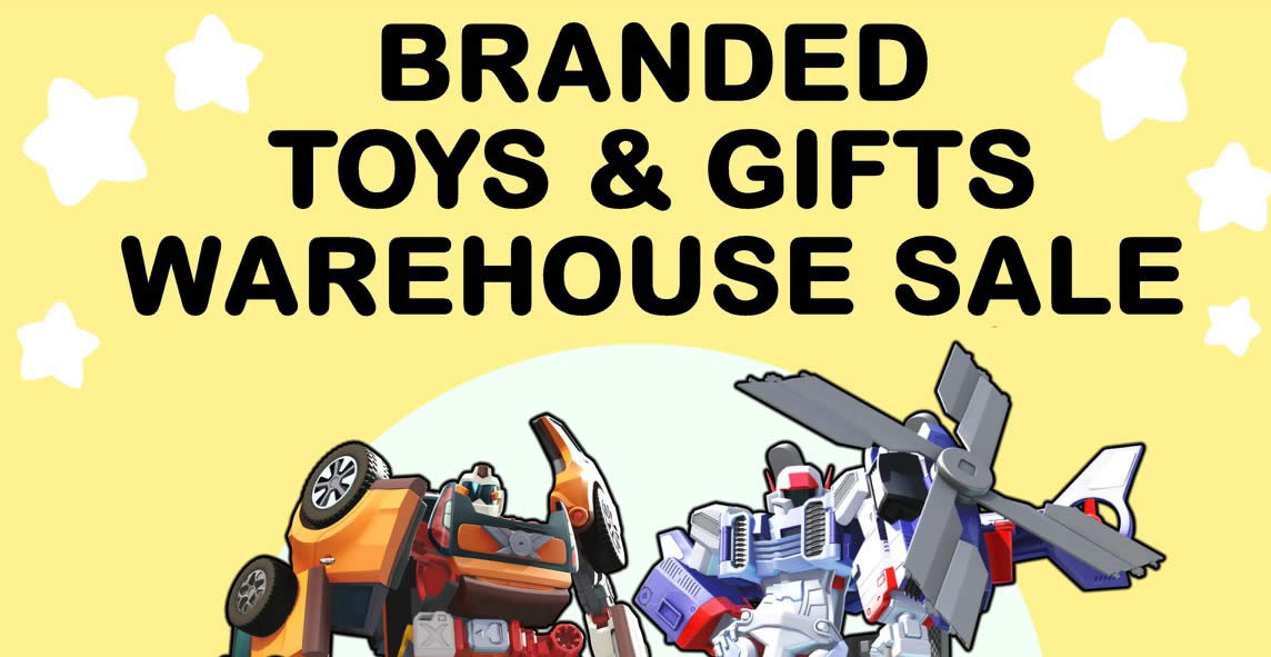 RB Zicon branded toys & gifts warehouse sale from 17 – 22 Dec 2018