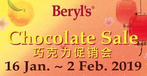 Featured image for Beryl's chocolate sale at Seri Kembangan, Selangor from 16 Jan – 2 Feb 2019