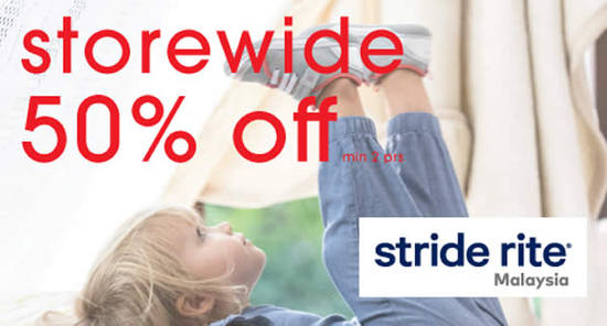 Featured image for Stride Rite 50% off STOREWIDE closing down sale on shoes & socks from 11 January 2019