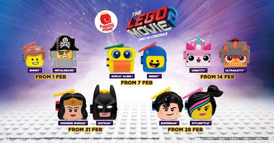 Featured image for McDonald's latest Happy Meal features toys from The LEGO Movie 2! From 1 Feb 2019