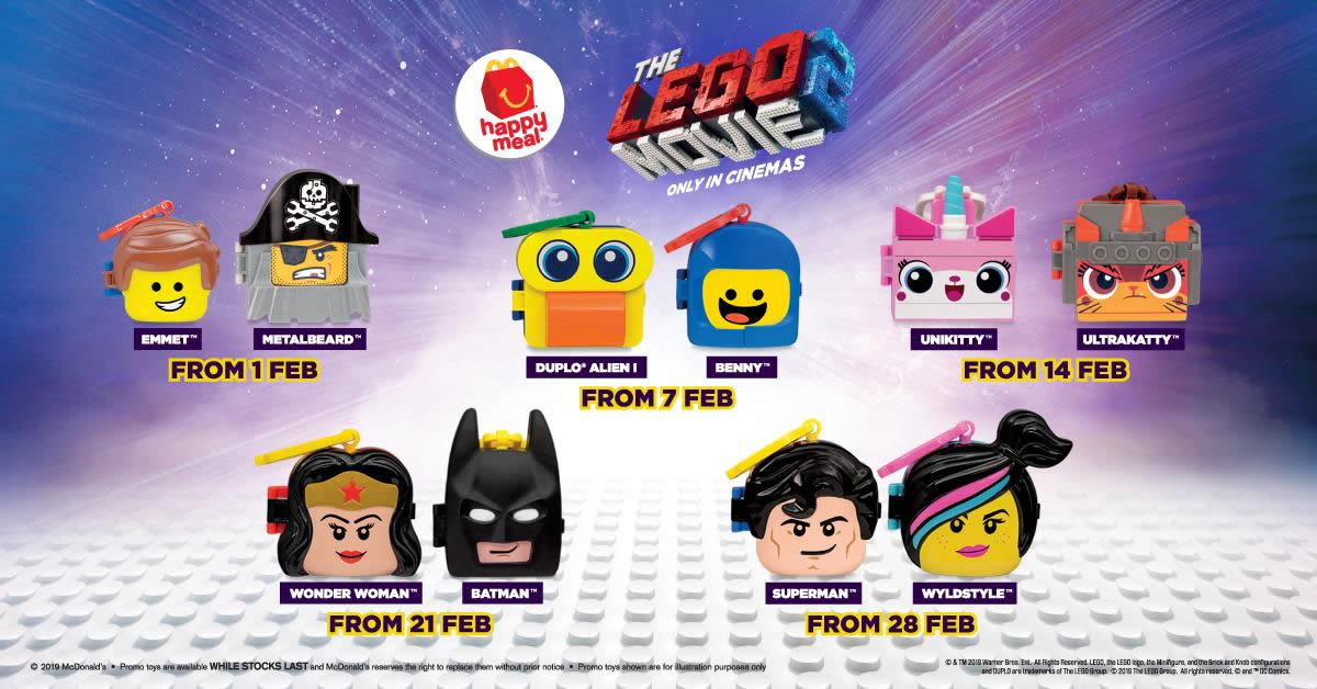 McDonald's latest Happy Meal features toys from The LEGO