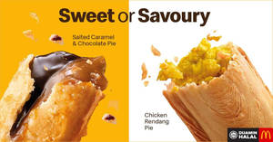 "McDonald's launches new ""Chicken Rendang Pie"" & ""Salted Caramel and Chocolate Pie"" from 21 Feb 2019"