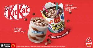 McDonald's launches new KitKat McFlurry and KitKat McFlurry Party desserts from 21 Feb 2019