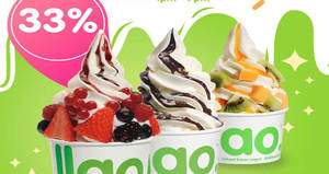 llaollao: 33% OFF medium, large and Sanum tubs for one-day only on 19 February 2020