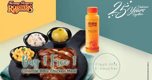 Featured image for Kenny Rogers ROASTERS is offering Buy-1-FREE-1 Oriental BBQ Chicken Meal till 29 March 2019