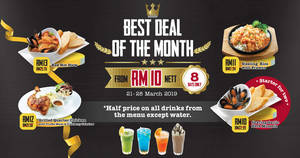 Manhattan FISH MARKET's Best Deal Of The Month returns from 21 – 28 March 2019