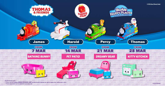 Featured image for McDonald's latest Happy Meal toys features Thomas & Friends and Shopkins! Now till 3 Apr 2019