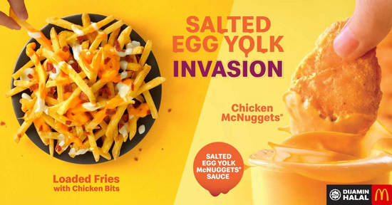 Featured image for McDonald's launches NEW Salted Egg Yolk McNuggets Sauce & Loaded Fries from 1 Mar 2019