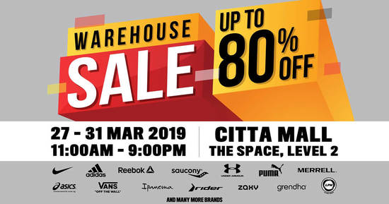 Featured image for Royal Sporting House Warehouse Sale from 27 - 31 Mar 2019