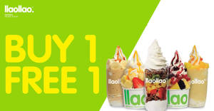 Featured image for llaollao Buy-1-FREE-1 promotion on almost ALL products at new The Gardens Mall outlet from 29 – 31 March 2019