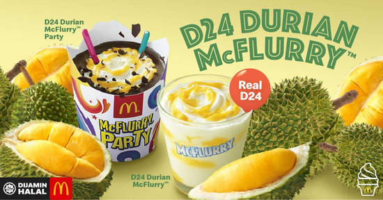 Featured image for McDonald's brings back D24 Durian Desserts, Chicken Foldover and Nasi McD & more from 22 April 2019