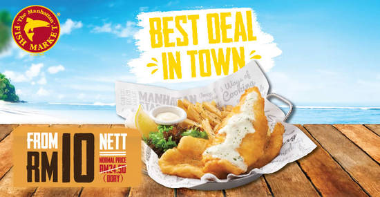 Featured image for Manhattan FISH MARKET's Best Deal in Town returns at ALL outlets from 16 - 26 April 2019 (except 20 Apr)