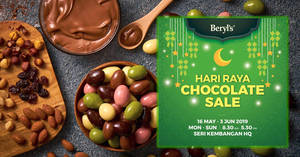 Featured image for Beryl's chocolate sale at Seri Kembangan, Selangor from 16 May – 3 Jun 2019