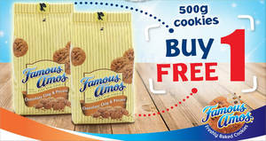Featured image for Famous Amos is offering BUY 1 FREE 1 500g cookies in bag from now till 10th July 2019