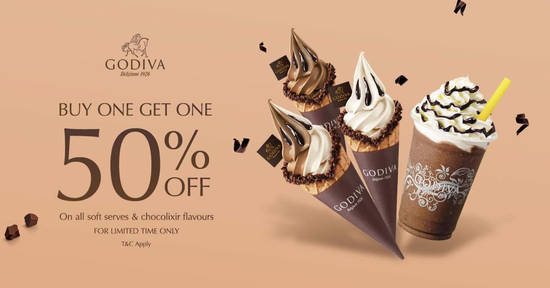 """Featured image for Godiva is having a """"Buy-One-Get-One 50% OFF"""" promo for a limited time at selected outlets from 16 July 2019"""
