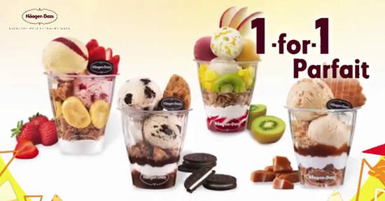 Featured image for Häagen-Dazs is offering 1-for-1 Parfait deal at ALL outlets from 15 - 19 July 2019