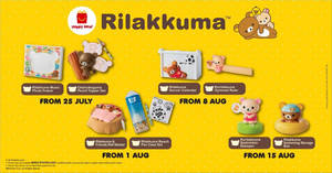 Featured image for McDonald's latest Happy Meal toys features Rilakkuma and friends! New toy every week till 21 August 2019