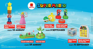 McDonald's latest Happy Meal toys features Super Mario! New toy every week till 18 Sept 2019