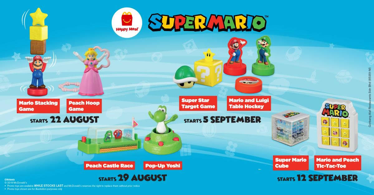 McDonald's latest Happy Meal toys features Super Mario! New