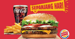 Burger King: Get a Double King for breakfast, or lunch, or dinner, or all of them, for only RM9.90 till 24 Sep 2019