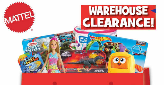 Featured image for The 2019 Mattel Warehouse Clearance is returning from 26th - 28th September 2019