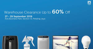 Featured image for Philips Warehouse Clearance Sale from 27 – 29 Sept 2019
