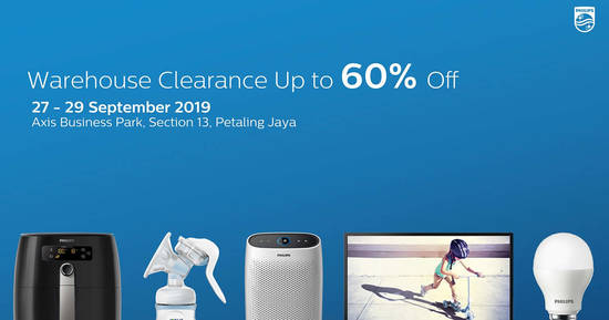 Featured image for Philips Warehouse Clearance Sale from 27 - 29 Sept 2019