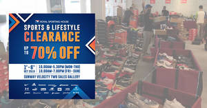Featured image for Royal Sporting House Sports & Lifestyle Clearance Sale from 1 – 6 Oct 2019