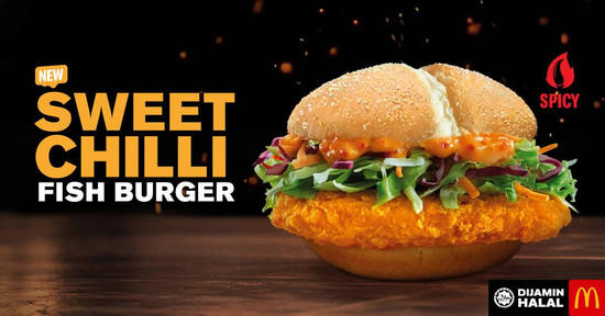 Featured image for McDonald's Malaysia launches new spicy Sweet Chilli Fish Burger, Spicy McShaker & more from 19 Sept, 2019