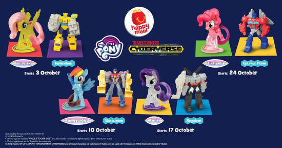 Featured image for Collect Transformers Cyberverse and My Little Pony toys with McDonald's latest Happy Meal toys till 30 Oct 2019
