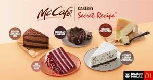 Featured image for Secret's out! Secret Recipe cakes are now available at McCafe outlets (From 1 Oct 2019)