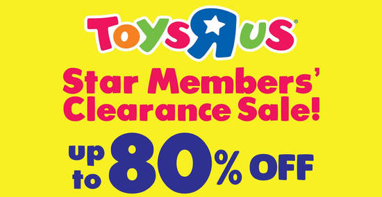 """Featured image for Toys """"R"""" Us: Up to 70% OFF clearance sale at IOI Mall from 9 - 14 Oct 2019"""