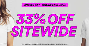 Featured image for Cotton On: 33% OFF almost everything at online store from 9 November 2019