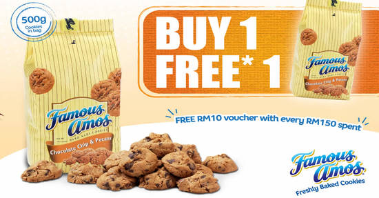 Featured image for Famous Amos: Buy-One-FREE-One 500g cookies in a bag 11.11 Single's Day Promo from 8 Nov - 15 Nov 2019