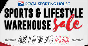 Royal Sporting House Warehouse Sale from 6 – 10 Dec 2019