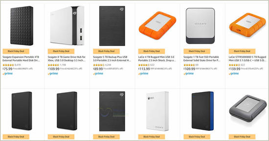 Featured image for 24hr Deal: Up to 35% off Seagate and LaCie External Storage Drives Black Friday Deal till 26 November 2019