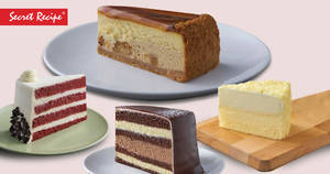 Secret Recipe: Buy 3 slices of cake and get 1 FREE every Wednesday this 20/27 November 2019